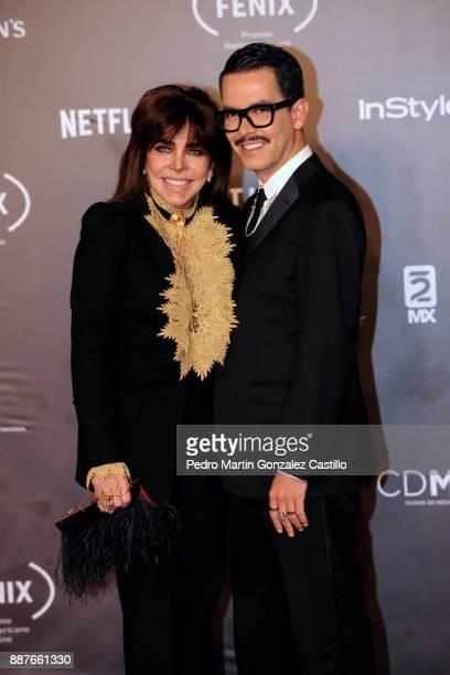 Veronica Castro and Manolo Caro pose during Fenix Iberoamerican Film Awards 2017 at Teatro de La Ciudad on December 06 2017 in Mexico City Mexico