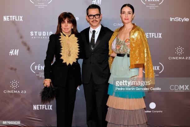 Veronica Castro Manolo Caro and Gabriela Garza pose during Fenix Iberoamerican Film Awards 2017 at Teatro de La Ciudad on December 06 2017 in Mexico...