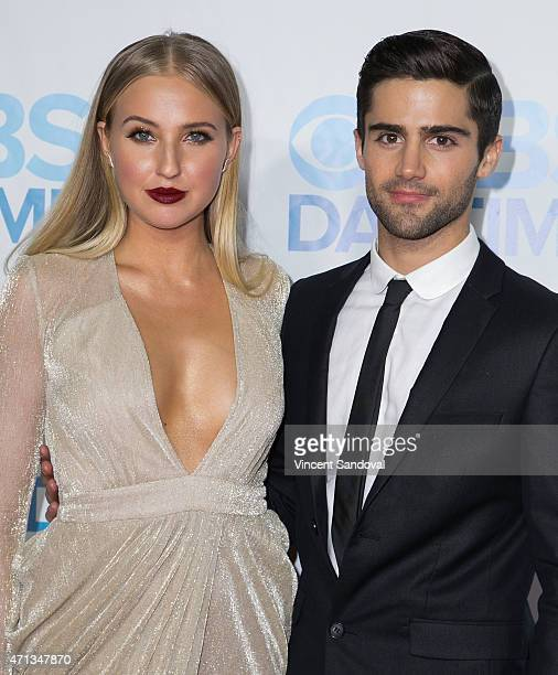Veronica Dunne and Max Ehrich attend the CBS Daytime Emmy after party at Hollywood Athletic Club on April 26 2015 in Hollywood California