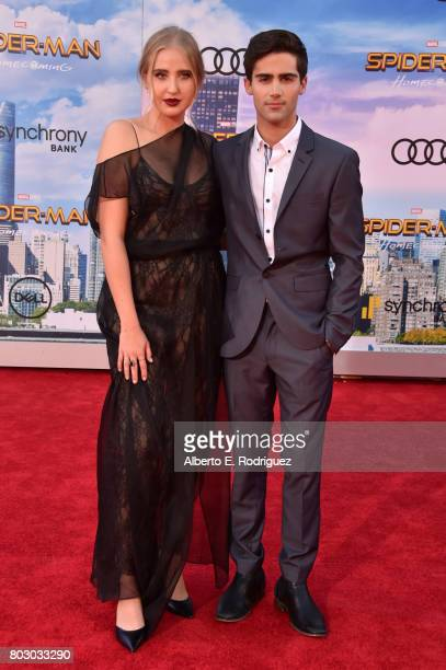 Veronica Dunne and Max Ehrich attend the premiere of Columbia Pictures' 'SpiderMan Homecoming' at TCL Chinese Theatre on June 28 2017 in Hollywood...