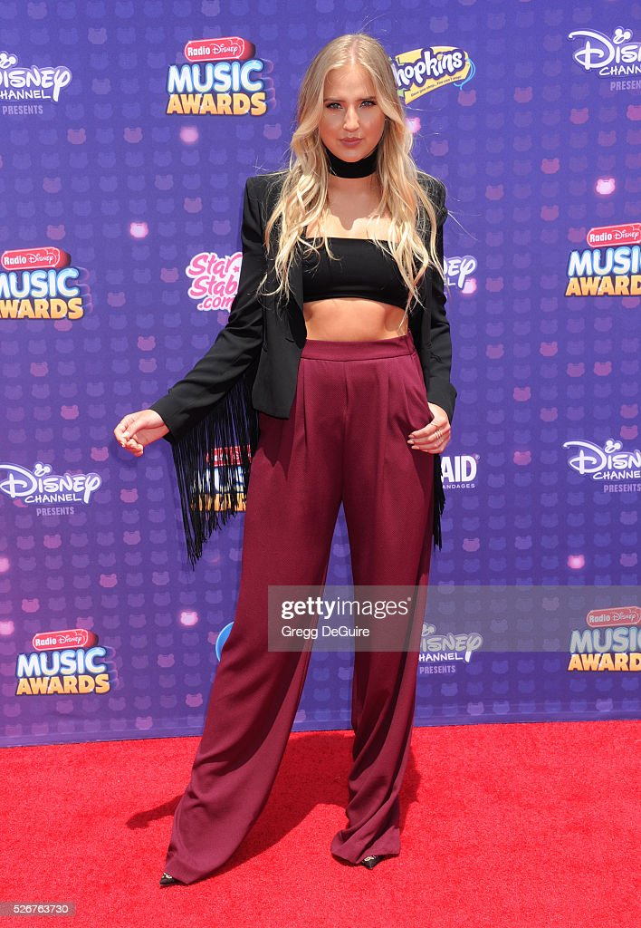 Veronica Dunne arrives at the 2016 Radio Disney Music Awards at Microsoft Theater on April 30, 2016 in Los Angeles, California.