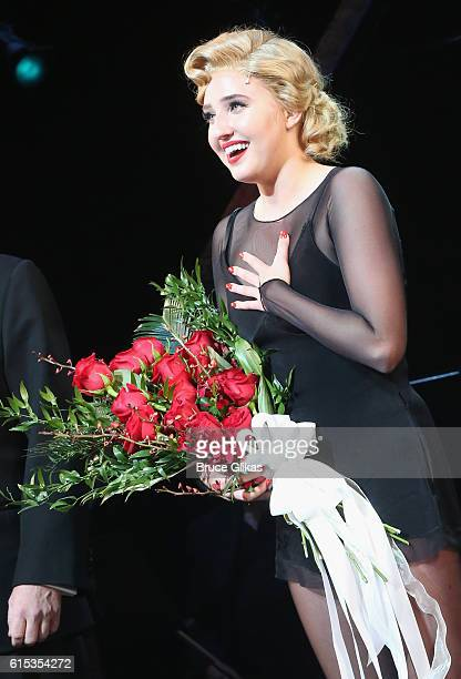 Veronica Dunne makes her Broadway Debut as 'Roxie Hart' in 'Chicago' on Broadway at The Ambassador Theatre on October 17 2016 in New York City