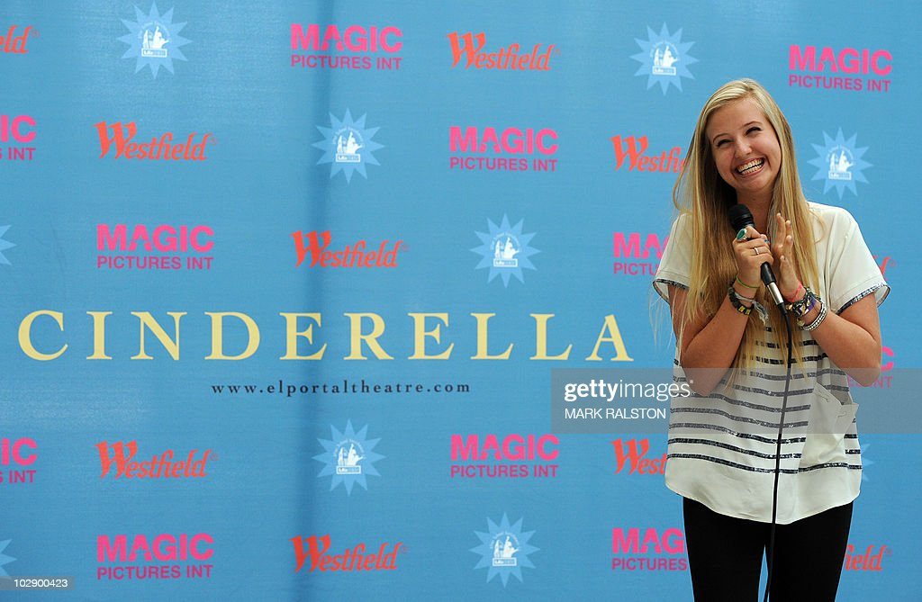 Veronica Dunne, 16, performs for the judges during the talent search for the next 'Cinderella' at Culver City in Los Angeles on July 14, 2010. The winner of the search will appear as the lead in 'Cínderella, A Modern Magical Musical Extravaganza' that will be produced by Nigel, Bonnie, and Kris Lythgoe, who also produce 'So You Think You Can Dance', 'Dancing With The Stars' and 'American Idol'. AFP PHOTO/Mark RALSTON