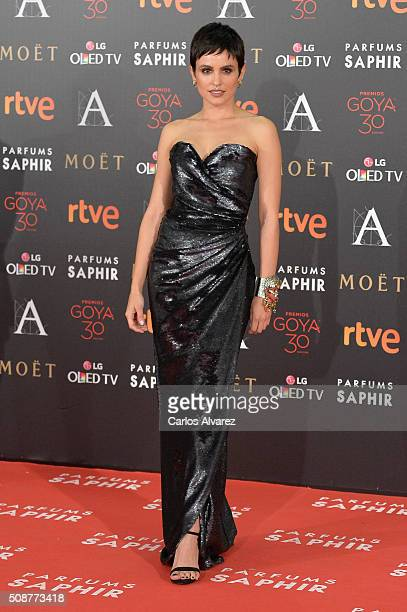 Veronica Echegui attends Goya Cinema Awards 2016 at Madrid Marriott Auditorium on February 6 2016 in Madrid Spain