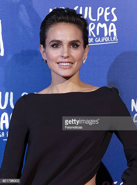 Veronica Echegui attends the 'No Culpes al Karma De lo Que Te Pasa Por Gilipollas' Madrid premiere at Capitol cinema on November 8 2016 in Madrid...