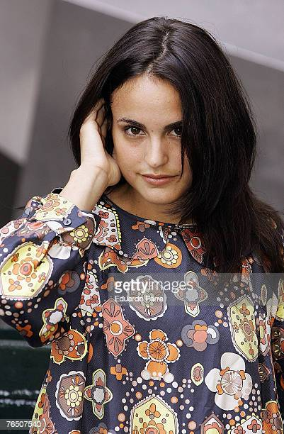 Veronica Echegui presentes the film 'Tocando el cielo' at the Princesa Cinema in Madrid Spain