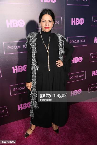 Veronica Falcon attends HBO 'Room 104' Premiere at Hollywood Forever on July 27 2017 in Hollywood California