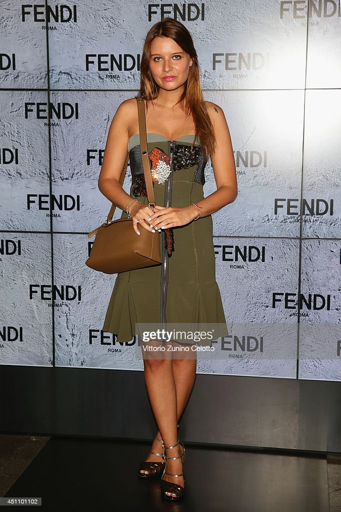 Veronica Ferraro attends the Fendi show during Milan Menswear Fashion Week Spring Summer 2015 on June 23, 2014 in Milan, Italy.