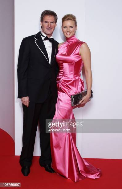 Veronica Ferres and Carsten Maschmeyer arrive for the Bambi 2010 Award at Filmpark Babelsberg on November 11 2010 in Potsdam Germany