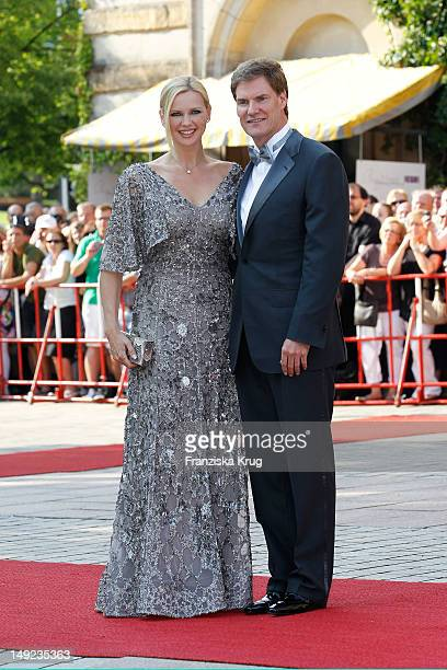 Veronica Ferres and Carsten Maschmeyer arrive for the Bayreuth festival 2012 premiere on July 25 2012 in Bayreuth Germany
