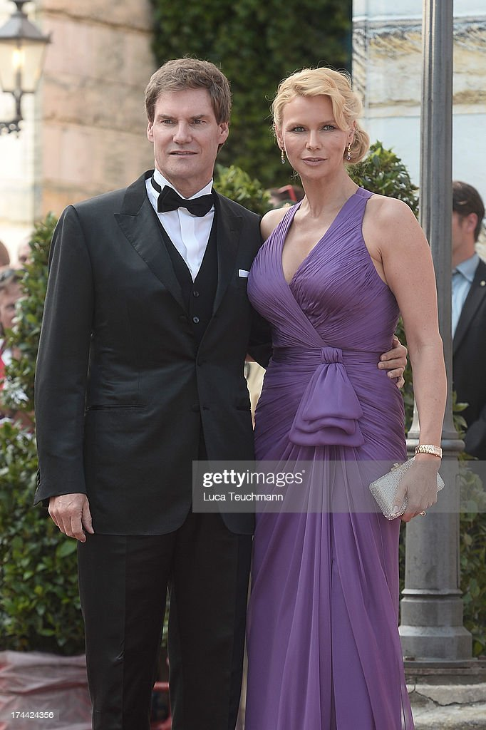 Veronica Ferres and Carsten Maschmeyer attend the Bayreuth Festival opening on July 25, 2013 in Bayreuth, Germany.