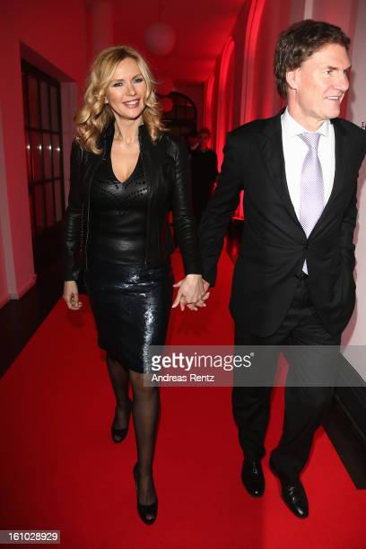 Veronica Ferres and Carsten Maschmeyer attend the Festival Night by Bunte and BMW at Humboldt Carre on February 8 2013 in Berlin Germany