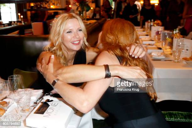 Veronica Ferres and Claudia Wenzel attend the Annabelle Mandeng Hosts Ladies Dinner In Berlin on July 2 2017 in Berlin Germany