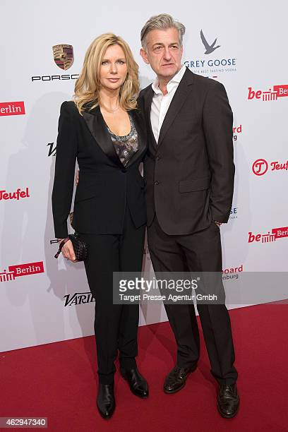 Veronica Ferres and Dominic Raacke attend the Medienboard BerlinBrandenburg Reception at Ritz Carlton on February 7 2015 in Berlin Germany