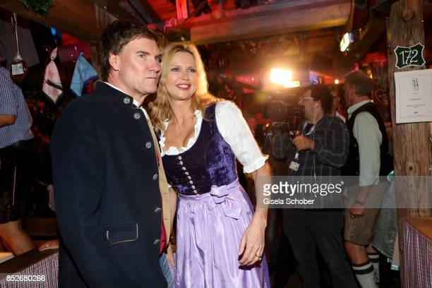 Veronica Ferres and her husband Casten Maschmeyer during the Oktoberfest at Theresienwiese on September 23 2017 in Munich Germany
