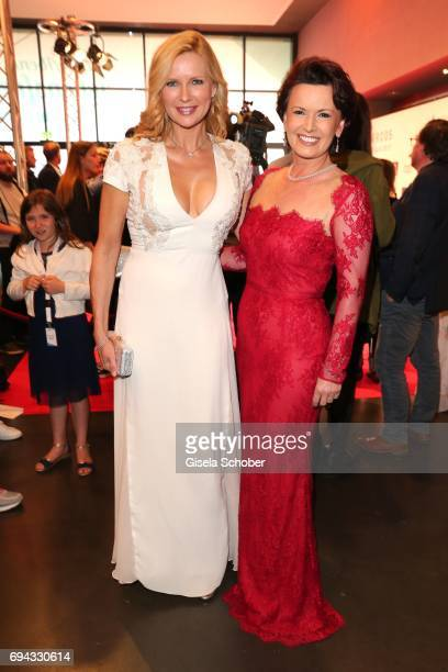 Veronica Ferres and Margit Toennies during the Toni Kroos charity gala benefit to the Toni Kroos Foundation at 'The Palladium' on June 9 2017 in...