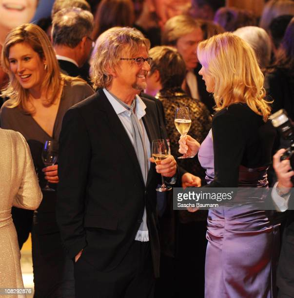 Veronica Ferres and Martin Krug attend the German Media Award on January 24 2011 in BadenBaden Germany