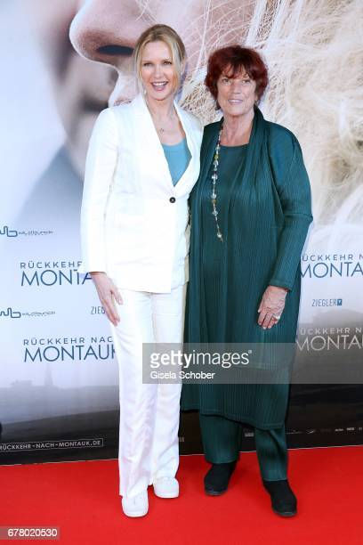 Veronica Ferres and Regine Ziegler during the premiere of the movie 'Rueckkehr nach Montauk' at City Kino on May 3 2017 in Munich Germany