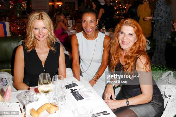 Veronica Ferres Annabelle Mandeng and Claudia Wenzel attend the Annabelle Mandeng Hosts Ladies Dinner In Berlin on July 2 2017 in Berlin Germany