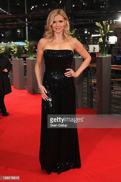 Veronica Ferres attends the 'Les Adieux De La Reine' Premiere during day one of the 62nd Berlin International Film Festival at the Berlinale Palast...