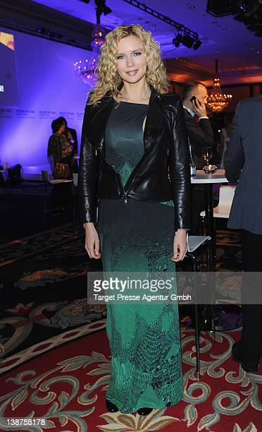 Veronica Ferres attends the 'Medienboard Reception' at the Ritz Carlton Hotel during day three of the 62nd Berlinale International Film Festival on...