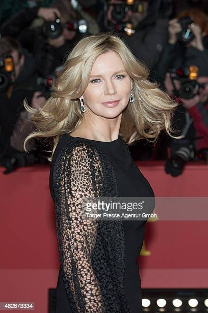 Veronica Ferres attends the 'Queen of the Desert' premiere during the 65th Berlinale International Film Festival at Berlinale Palace on February 6...