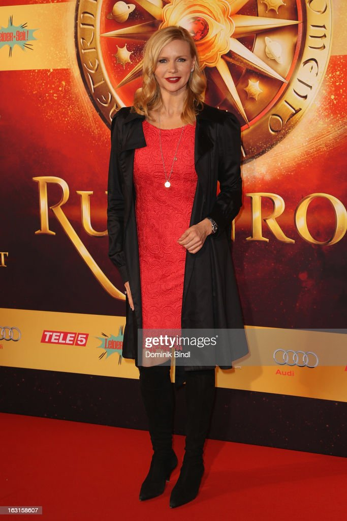 Veronica Ferres attends the Rubinrot Premiere on March 5, 2013 in Munich, Germany.