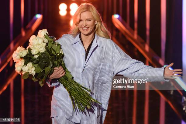 Veronica Ferres attends the taping of 'Back To School Gottschalks grosses Klassentreffen' Show on January 24 2014 in Berlin Germany