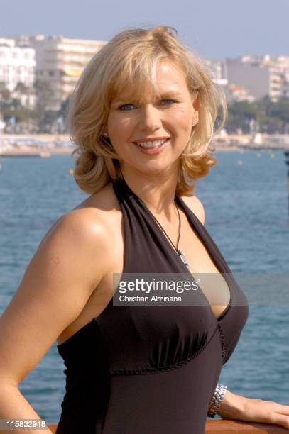 Veronica Ferres during 2004 MIPCOM 'Under the Dark Sun of Africa' Photo Call at Majestic Hotel Jetty in Cannes France