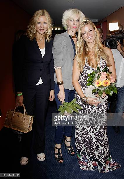 Veronica Ferres Katja Eichinger and Nina Eichinger attend the First Steps Award 2011 after show party at the Theater Am Potsdamer Platz on August 23...