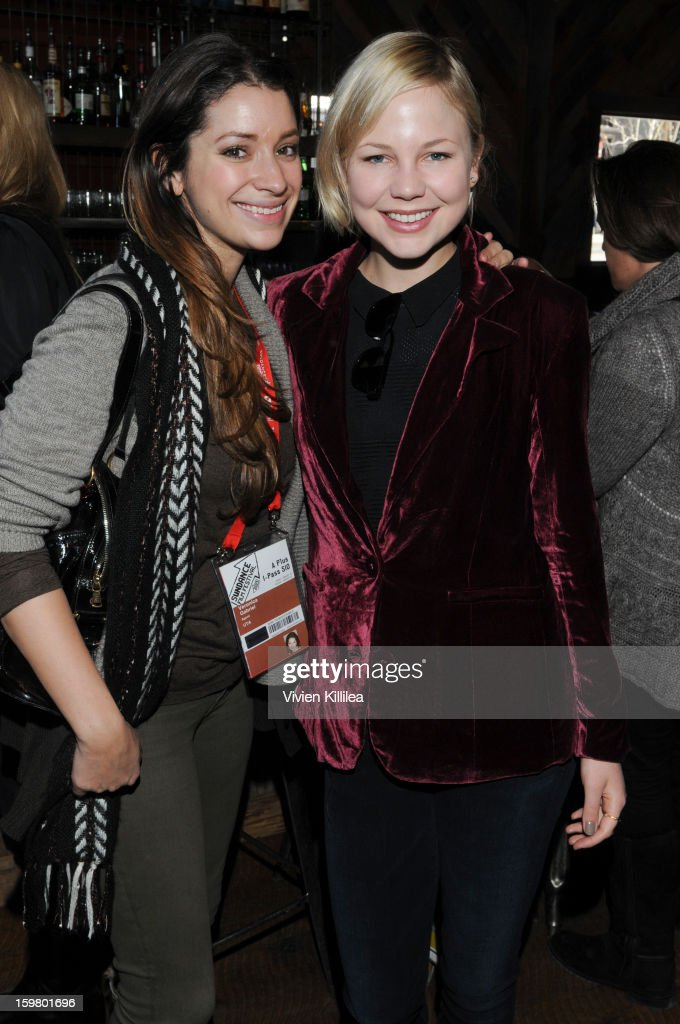 Veronica Gabriel and actress Adelaide Clemens attend the UK Film Brunch at Sundance - 2013 Park City on January 20, 2013 in Park City, Utah.