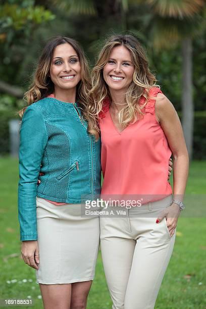 Veronica Gatto left and Ingrid Muccitelli attend 'Unomattina Ciao Come Stai' photocall at Rai Tor di Quinto on May 21 2013 in Rome Italy