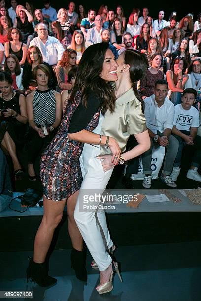 Veronica Hidalgo and Maria Jesus Ruiz are seen attending MercedesBenz Fashion Week Madrid Spring/Summer 2016 at Ifema on September 19 2015 in Madrid...