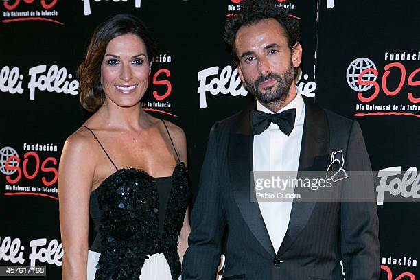 Veronica Hidalgo attends 'Folli Follie' new charity collection presentation on October 21 2014 in Madrid Spain