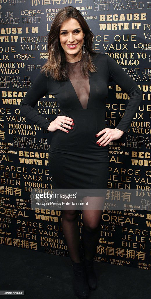 Veronica Hidalgo attends the openig of L'Oreal Paris store on January 29 2014 in Madrid Spain