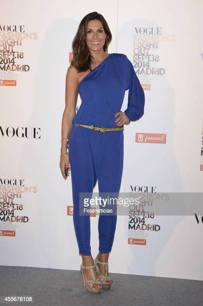 Veronica Hidalgo attends the Vogue Fashion's Night Out Madrid 2014 on September 18 2014 in Madrid Spain