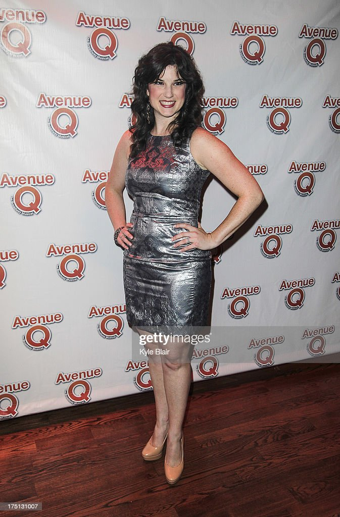 Veronica J. Kuehn attends the 'Avenue Q' 10th year anniversary performance at New World Stages on July 31, 2013 in New York City.
