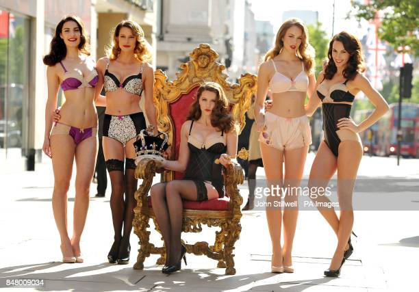 Veronica Jocette Madeline Annie and Genavieve model the new range of Diamond Jubilee underwear which emulates the glamour of the 1950s from Marks...