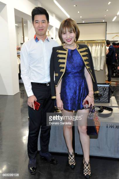 Veronica Luan and guest attend DIOR SS17 Collection Launch at Maxfield on April 5 2017 in Los Angeles California