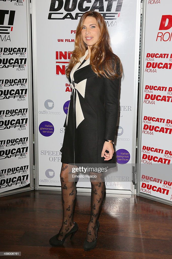 Veronica Maya attends the 'Indovina Chi Viene A Natale' party at Ducati Caffe on December 19, 2013 in Rome, Italy.