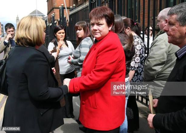 Veronica McAlinden the mother of Rory McAlinden attends the inquest into his death in Belfast