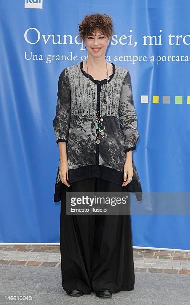 Veronica Pivetti attends the Palinsesti Rai photocall at Cavalieri Hilton Hotel on June 20 2012 in Rome Italy