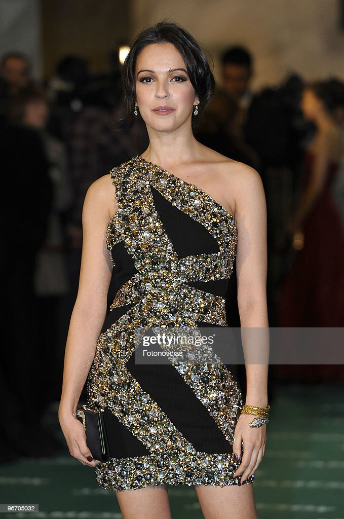Veronica Sanchez arrives to the 2010 edition of the 'Goya Cinema Awards' ceremony at the Palacio de Congresos on February 14, 2010 in Madrid, Spain.
