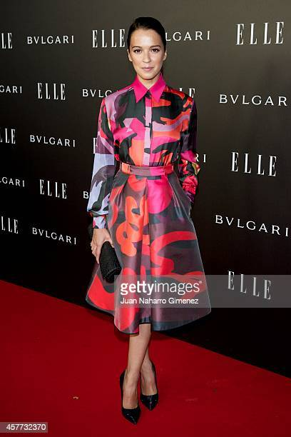 Veronica Sanchez attends 'Elle Style Awards 2014' photocall at Italian Embassy on October 23 2014 in Madrid Spain