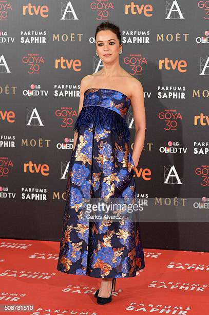 Veronica Sanchez attends Goya Cinema Awards 2016 at Madrid Marriott Auditorium on February 6 2016 in Madrid Spain