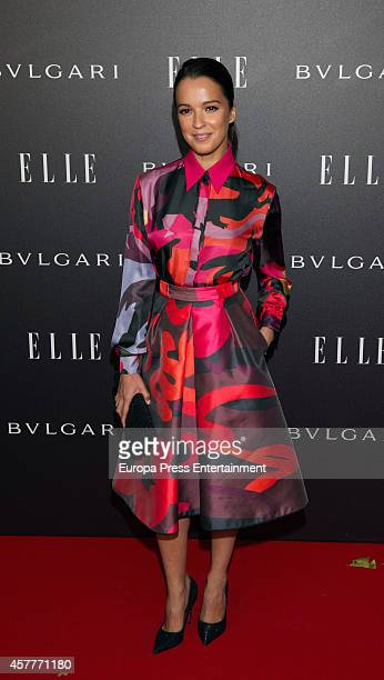 Veronica Sanchez attends the Elle Style Awards party at the Italian Embassy on October 23 2014 in Madrid Spain