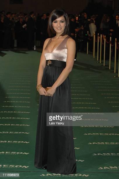 Veronica Sanchez during 2007 Goya Awards Arrivals at Palacio de Exposiciones in Madrid Spain