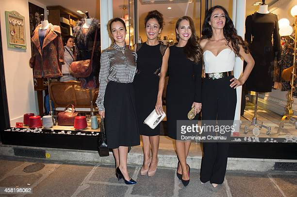 Veronica Sanchez Patricia Perez Paula Echevarria Monica Estarreado attend the 'Dolores Promesas' Opening Store in Paris on October 31 2014 in Paris...