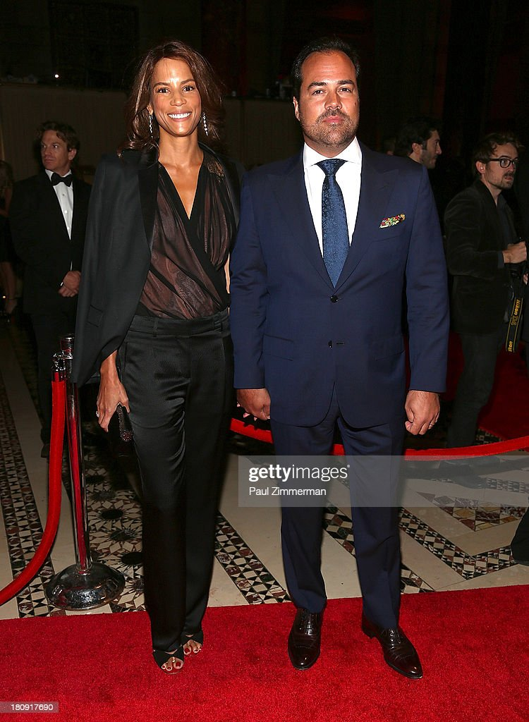 Veronica Webb (L) and Chris Del Gatto attend the 14th Annual New Yorkers For Children Fall Gala at Cipriani 42nd Street on September 17, 2013 in New York City.