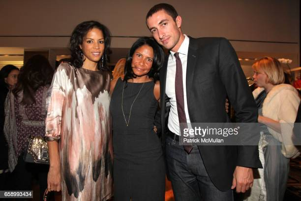 Veronica Webb Maryse Thomas and Angelo Peruzzi attend BALLY hosts GYPSET STYLE with Julia Chaplin at Bally Boutique on April 23 2009 in New York City